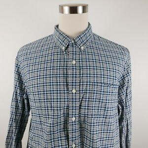 Ralph Lauren Denim & Supply Mens LS Button Down Navy White Plaid Dress Shirt XXL