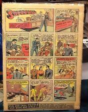 1940 Superman color strip (#15) Siegel and Shuster DC comics nat'l periodicals
