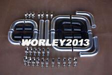 "2.25"" 57 mm Aluminum Universal Intercooler Turbo Piping Black hose Clamp 12pcs"