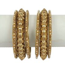 Indian Metal Bangle Bollywood Costume Bangle Bracelet Ethnic Style Set