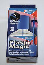 DELUXE AD77 PLASTIC MAGIC 40ml PLASTIC GLUE. NEW