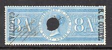 1866/68 India Bft:52 8a Blue.S.C. Court Calcutta Revenue.