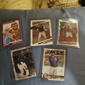 2018 + 19 +20 Lot of 5 FERNANDO TATIS JR. Bowman & Donruss San Diego Padres