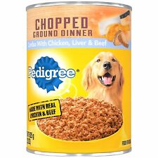 DOG FOOD PEDIGREE 12 CANNED BEEF 22 OZ WET ADULT CUTS GRAVY CHOICE OUNCES GROUND