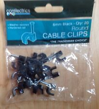 Corelectric 6mm 20 Round Cable Clips