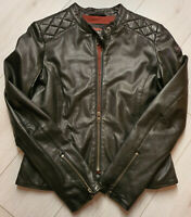 Tigha Damen Biker Lederjacke Nana Black  Sheep Leather  Gr. M