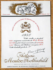 Étiquette - Mouton Rothschild 1958 - 75 cl.