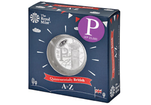 10p COIN GREAT BRITISH HUNT  Alphabet Letter P Postbox Silver Proof  Royal Mint