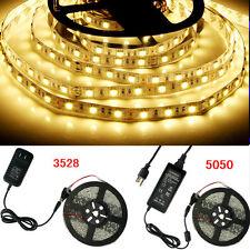 5M 300Leds 3528/5050 SMD RGB/White/Red/Green/Blue LED Strip Light /Remote /Power