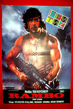 RAMBO FIRST BLOOD 1982 SYLVESTER STALLONE TED KOTCHEFF UNIQUE EXYU MOVIE POSTER