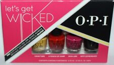 4 Colors OPI Lets Get Wicked Mini Nail Lacquer Polish 1 8 Oz Each