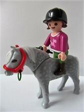 Playmobil Granja/establos: chica figura y gris moteado Pony Set Nuevo