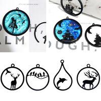 10Pcs Acrylic DIY Animal Frame Open Pendant Bezel Setting UV Resin Jewelry Z0HWC