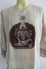 OM Ganesh Men's T Shirt Hindu India Meditation Brown GT52 Free Shipping