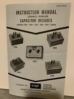 ORIGINAL CDE Cornell-Dubilier Capacitor Decades CDA CDB CDT++ INSTRUCTION MANUAL