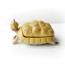 Art Deco German Bisque Porcelain Lady Turtle Pin Doll Trinket Ornament