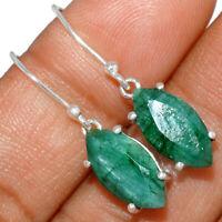 Emerald 925 Sterling Silver Earring Jewelry BE2447