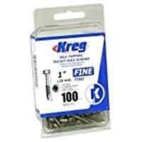 "Kreg H3620 #6 X 1"" Fine, Pan-head 100 Pc."