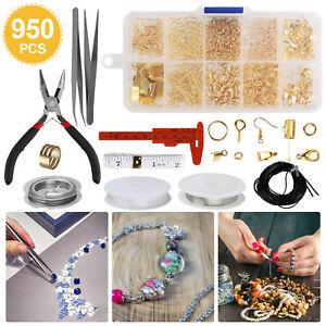 DIY Jewelry Making Kit Silver Sterling Beading Repair Tools Craft Supplies Bead