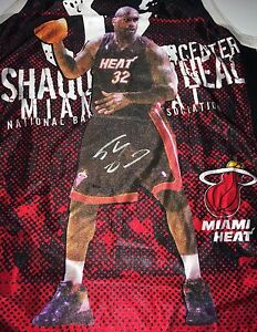 Shaq Shaquille Oneal Signed Miami Heat Jersey With Shaq Image PSA 7A66932