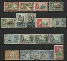 British Solomon Islands 1956 Collection 18 QEII Multi Design Values Used