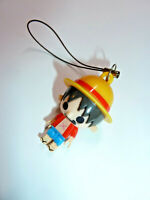 One Piece Monkey D Luffy minifig figure cel phone charm anime pirate chibi cute!
