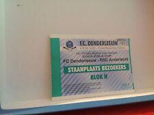 Football Ticket - Coca cola cup - FC Denderleeuw - Rsca Anderlecht