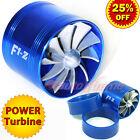"64-74mm 2.5""-2.9"" TURBO CHARGER AIR INTAKE TURBONATOR Gas Fuel Saver Fan BLUE"