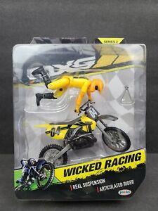 "jakks MXS MOTO EXTREME SPORTS Series 2 ""WICKED RACING"" Bike And Rider NEW"