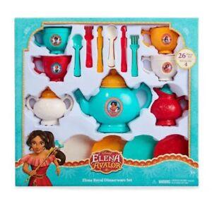 Disney Tea Set Service for 4 ELENA OF AVALOR  26 Piece Dinnerware Set ~ NEW