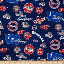 NCAA Gonzaga University Home State GONZ-1178 Cotton Fabric by the Yard