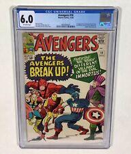 Avengers #10 CGC 6.0 KEY! The Avengers Break Up! (1st Immortus!) 1964 Marvel