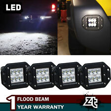 "2 Pair 5"" Flush Mount Total 72W LED Light For SUV Truck Jeep Off-Road Ford Boat"