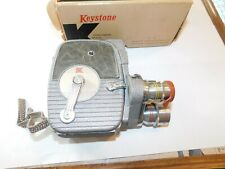 Vintage Keystone 8 mm electric eye movie camera in good condition/ W/ Box/ Paper