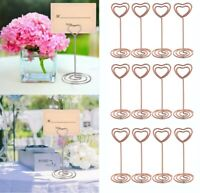 12PCS Wedding Party Place Card Photo Holder Stands Table Number Paper Menu Clips