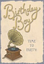 Gramaphone Birthday Greeting Card - Gramophone - 7 x 5 Inches