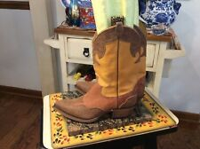 WOMENS JUSTIN L6306 MULTICOLOR SUEDE LEATHER COWBOY WESTERN BOOTS 6.5 B