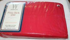 VTG Wamsutta CRANBERRY Red PIMA RICH 280 KING Fitted Sheet - NIP
