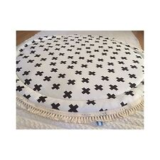BABY PADDED ROUND TUMMY TIME PLAY MAT ROUNDIES NURSERY BLANKET