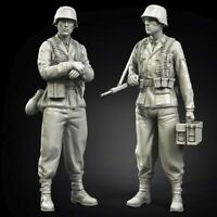 1/35 Resin WWII German SS Soldiers 2 Set Unpainted Unassembled CK022