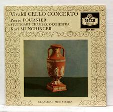 "PIERRE FOURNIER - VIVALDI cello concerto MUNCHINGER - DECCA CEP 610 7"" EP EX+"