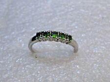 Vintage Sterling Silver Peridot Ring, signed VJL, Size 7.25, 2.10 grams