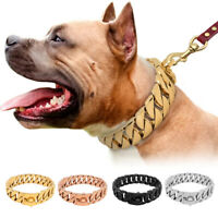 Luxury Stainless Steel Pet Dog Chain Collars Heavy Duty Choker Medium Large Dogs