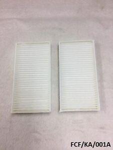2 x Cabin / Pollen Filter for Dodge Nitro KA 2007-2011 FCF/KA/001A