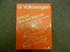 1970 1979 VW Super Beetle Beetle Karmann Ghia Official Service Manual NEW 79 x