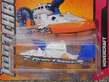 "Matchbox 2012 #098/120 HOVERCRAFT ""Pirate chaser"" orange white blue water cannon"