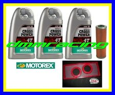 Kit Tagliando KTM 950 03>09 LC8 + Filtro Olio Aria BMC MOTOREX 10W50