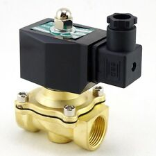 "12VDC Methane Gas Fuel Propane 2 Ways NC Solenoid Valve 3/4"" BSPP Connection CE"