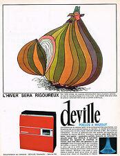 PUBLICITE ADVERTISING 0314   1965   DEVILLE   poele à mazout