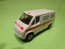 CORGI TOYS FORD TRANSIT - AMBULANCE BELGISCHE RODE KRUIS - WHITE - GOOD